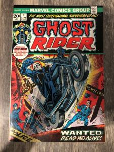 Marvel Ghost Rider 1 * 1973 * 1st Series * F/VF * 1st Cameo Son Of Satan *