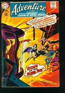 ADVENTURE COMICS #365 1968-SHADOW LASS INTRO -SUPERBOY-LEGION SUPER HEROES-VG