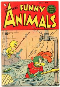 Fawcett's Funny Animals #73 1951-Circue Freak Show story- Atomic Age mention