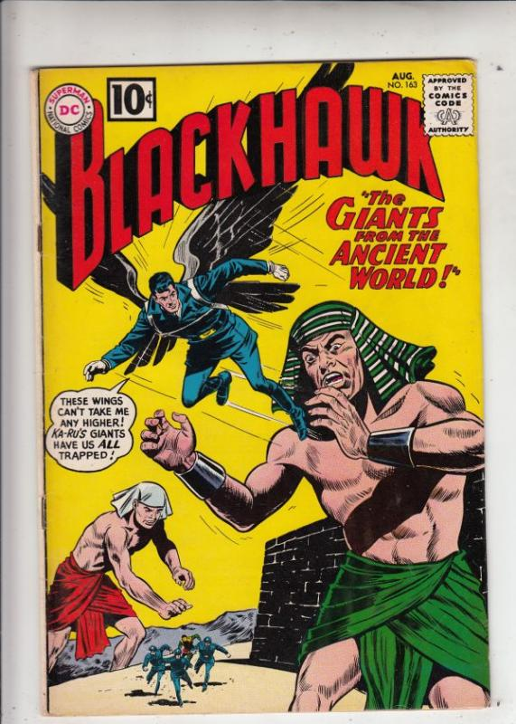 Blackhawk #163 (Aug-61) VF+ High-Grade Black Hawk, Chop Chop, Olaf, Pierre,Ch...