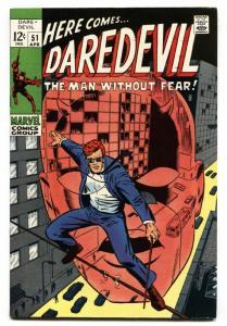 DAREDEVIL #51 1969-MARVEL comic book BARRY SMITH ART VF