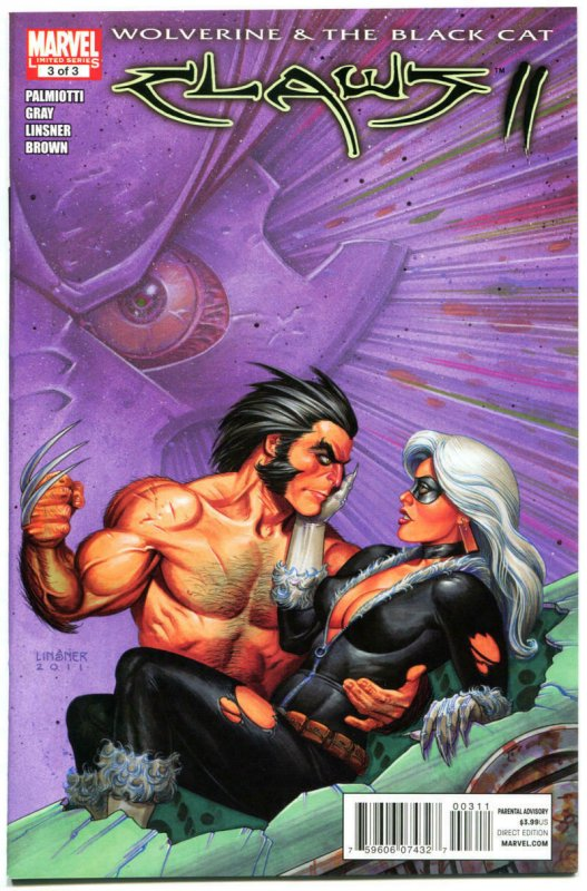 CLAWS #1 2 3 Vol 2, NM, Joseph Linsner, Wolverine, Black Cat, 2011, 1-3 set