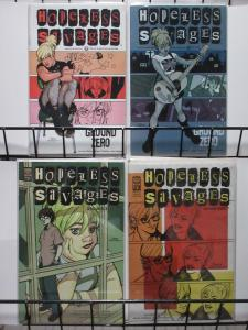 HOPELESS SAVAGES: GROUND ZERO (ONI,2002) #1-4 VF-NM COMPLETE!  Bryan O'Malley