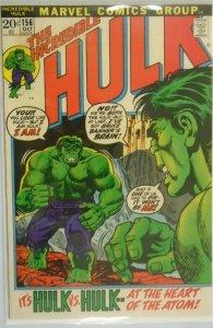 The Incredible Hulk #156 - 5.5 FN- - 1972