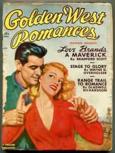 Golden West Romances Pulp July 1950- Bradford Scott F/G