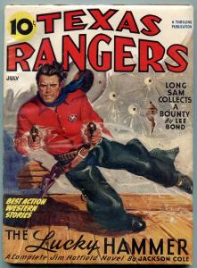 Texas Rangers Pulp July 1946- Jim Hattfield- Lucky Hammer FN
