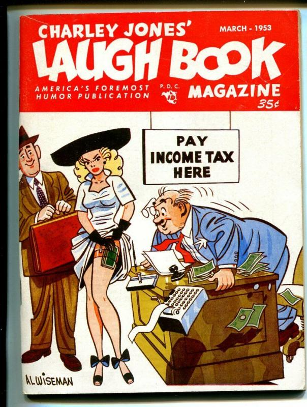 Charley Jones Laugh Book 3/1953-Jayhawk Press-cartoons-gags-FN