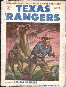 TEXAS RANGERS  OCT1952-HERO PULP FEATURES JIM HATFIELD-LONE WOLF AVENGER-NEW ...