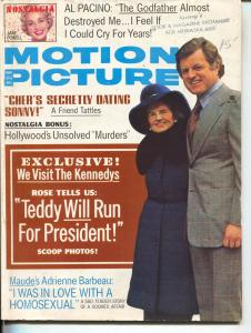 Rose Kennedy-Ted Kennedy-Motion Picture-Cher-Adrienne Barbeau-March-1975