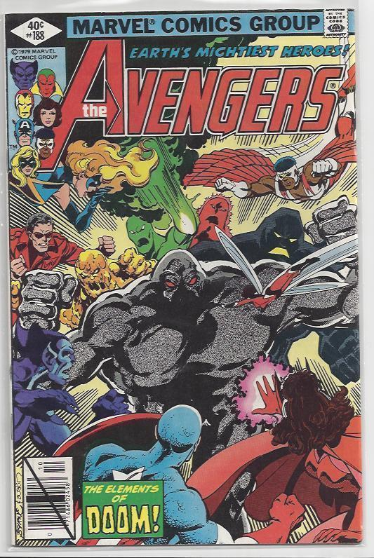 Avengers Issue #188 Autographed Old School Style by John Byrne