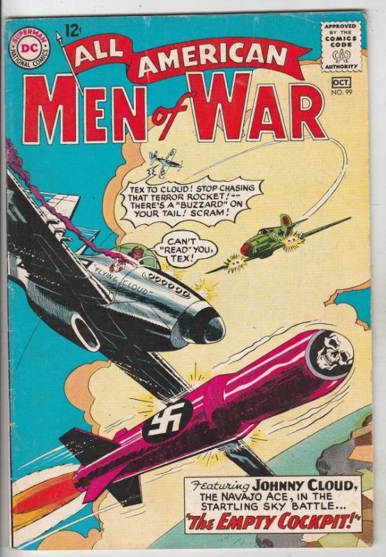 All-American Men of War #99 (Oct-63) FN/VF Mid-High-Grade Johnny Cloud