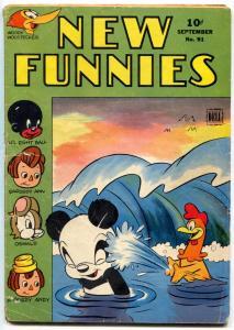 New Funnies #91 1944- Raggedy Ann-Woody Woodpecker- Golden Age G