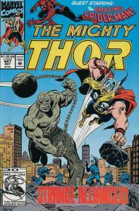 Thor #447 VF/NM; Marvel | save on shipping - details inside