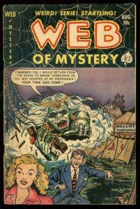 WEB OF MYSTERY #12 1952-VAMPIRE STORY VG-