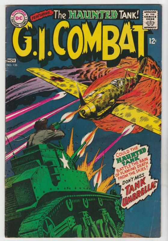 G.I. Combat #126 (Nov-67) FN+ Mid-High-Grade The Haunted Tank