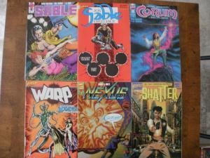 6 FIRST Comic: SABLE #13 FREELANCE #18 NEXUS #60 SHATTER #1 CORUM #4 WARP #4