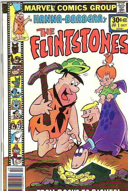 The Flintstones #1 (Oct-77) FN Mid-Grade The Flintstones (Fred, Wilma, Pebble...