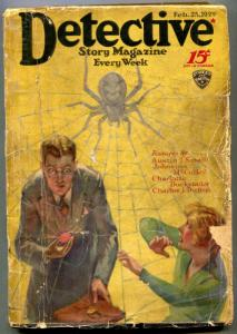 Detective Story Pulp February 26 1929- Spider cover- Johnston McCulley