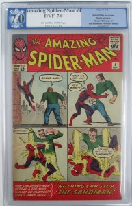 1963 Amazing Spider-Man #4 PGX 7.0 (F/VF) 1st App./Origin of the Sandman