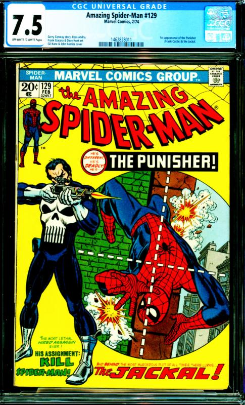 Amazing Spider-Man #129 CGC Graded 7.5 1st Appearance of the Punisher