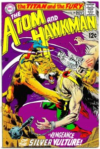 THE ATOM and HAWKMAN #39 (Oct1968) 6.5 FN+  First Team-Up Issue! Kubert Cover!