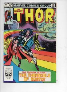 THOR #331 VF/NM God of Thunder Death 1966 1983, more Thor in store, Marvel