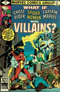 What If... #17 - VF/NM - Ghost Rider/Spider-Woman/Captain Marvel were Villains?