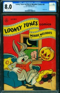 Looney Tunes and Merrie Melodies #61 CGC 8.0-Double cover- halloween 2050850002