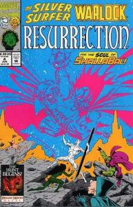 Silver Surfer/Warlock: Resurrection #4, VF+ (Stock photo)