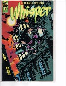 First Comics Whisper #29 & 30 NM Steven Grant Steve Epting