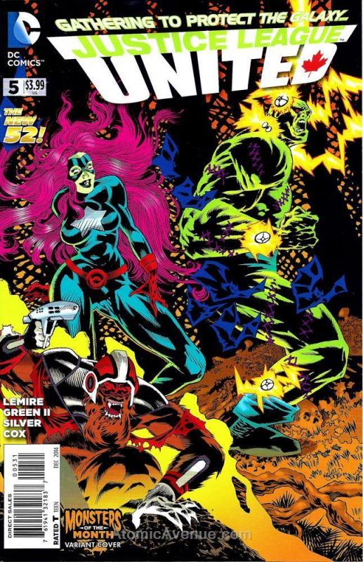Justice League United #5B VF/NM; DC | save on shipping - details inside