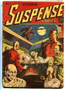 Suspense Comics #1 1943-Wild  torture WWII branding cover!-CONTINENTAL