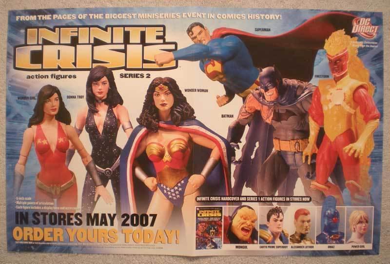INFINITE CRISIS Promo poster, 11x17, 2007, Unused, more Promos in store
