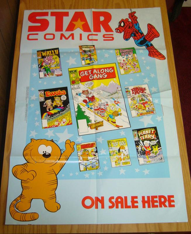 Star Comics promotional poster - spider-ham - fraggle rock - ewoks - heathcliff