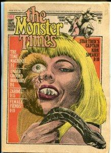 The Monster Times #34 Horror Newspaper 1974 Star Trek Time Machine Female Fiends