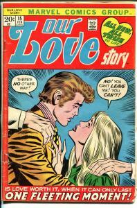 Our Love Story #15 1972-Marvel-romance stories-Buscema-Verpoorten-G