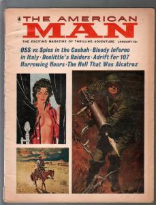 American Man 1/1966-macine gunner-Alcatraz-Doolittle's Raiders-vg