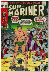 SUB MARINER 33 VERY GOOD-FINE Jan. 1971 COMICS BOOK
