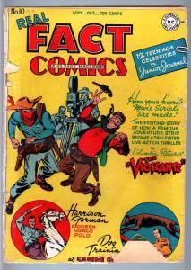 REAL FACT COMICS #10-MOVIE CAMERA COVER-WESTERN-DC-GOLDEN AGE FR/G
