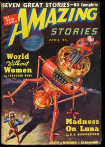 AMAZING STORIES 1939 APR-COOL SCI FI PULP-ROBOTO CVR FN
