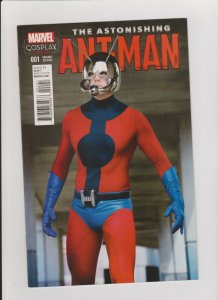 THE ASTONISHING ANT-MAN #1 VF/NM COSPLAY VARIANT 2015 MARVEL COMICS