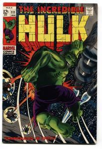 INCREDIBLE HULK #111 comic book 1968-MARVEL COMIC-JOHN SEVERIN VF-