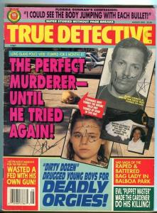 TRUE DETECTIVE-08/93-GUNMAN'S CONFESSION-WASTED FED-DEADLY ORGIES-GD/VG G/VG
