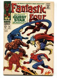FANTASTIC FOUR #73 1968-SPIDER-MAN-KIRBY ART VF-