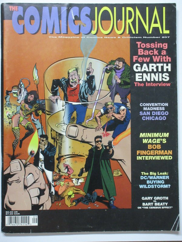 Comics Journal #207 Garth Ennis Bob Fingerman Bart Beaty Cerebus Effect