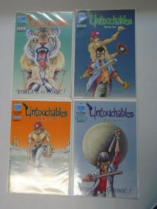 Untouchables set #1-4 8.0 VF (1988 Eastern)