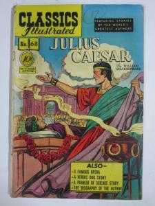 CLASSIC ILLUSTRATED #68 (FR-G) JULIUS CAESAR (1ST Edition, HRO=70) Feb 1950
