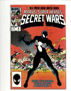 Marvel Super Heroes Secret Wars # 8 NM Comic Book Spider-Man Black Suit DS4