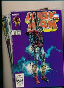 MARVEL SET of 6-IRON MAN #232-237 1984  VERY FINE (PF726)