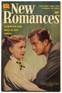 New Romances #9 1952- June Haver cover- Golden Age comics FN-